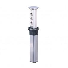 Блок розеточный настольный, 3х2К+З, 1-USB (45х45) автоматический, выдвижной, алюминий, IP54