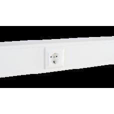 Суппорт с рамкой на 1 пост (45х45) в профиль для кабель-канала 100х50, аналог Legrand 30381
